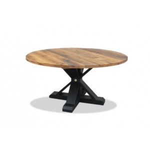 Round Barn Table - Old Oak (Black)