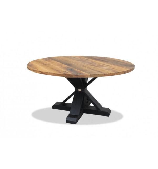 Round Barn Table - Old Oak (Black)