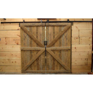 Reclaimed Oak Barn Doors - Double Z
