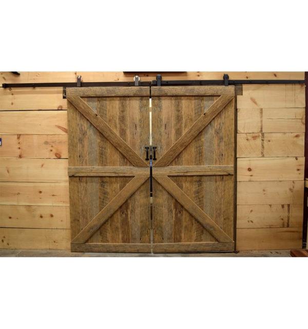 Reclaimed Oak Barn Doors - Double Z