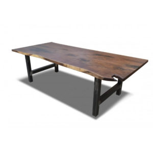 Live Edge Walnut Industrial Table